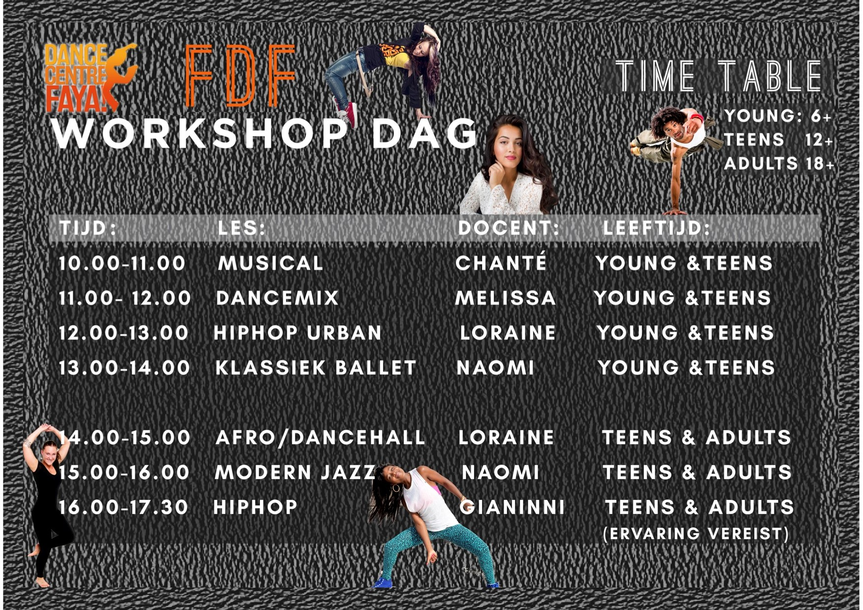 workshopdag timetable